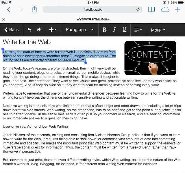 Textbox.io for iOs